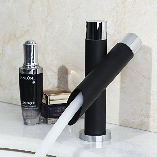 yanksmart unique bathroom sink faucets black painted single hole one handle mixer water tap
